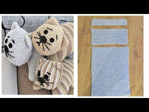 Котоподушки своими руками вязаные схема вязания спицами
