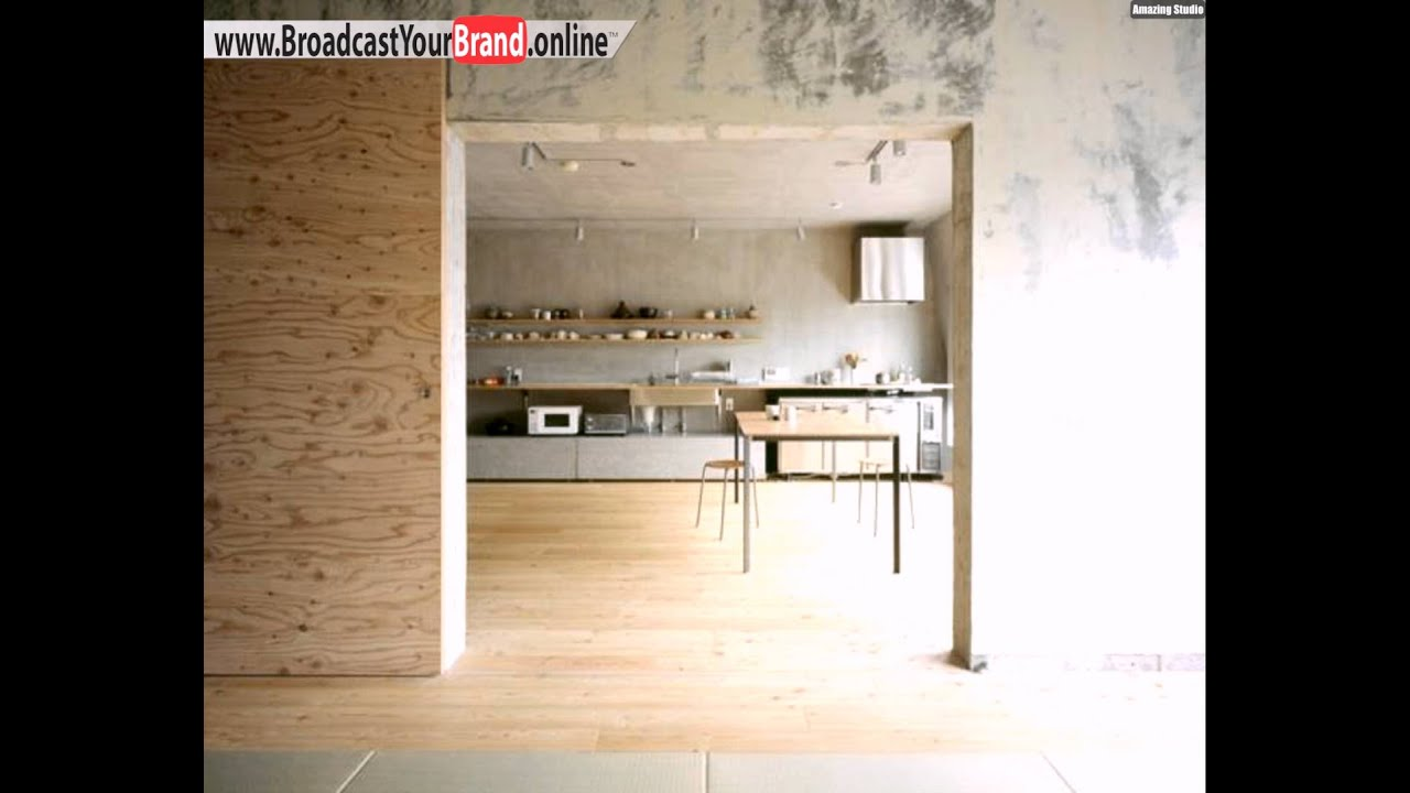 sperrholz innenausbau beton k che setagaya flat naruse inokuma youtube. Black Bedroom Furniture Sets. Home Design Ideas