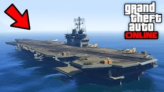 BUY THE AIRCRAFT CARRIER IN GTA 5 ONLINE WITH GUNRUNNING UPDATE!? (GTA 5 GUNRUNNING DLC)