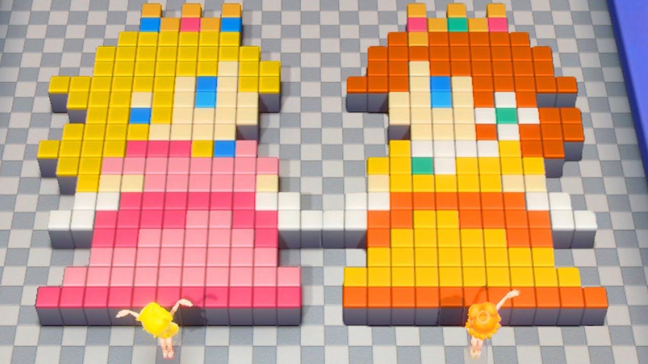 【スーパーマリオパーティ】ミニゲームデイジー&ピーチVsロゼッタ&プンプン(COM最強 たつじん)