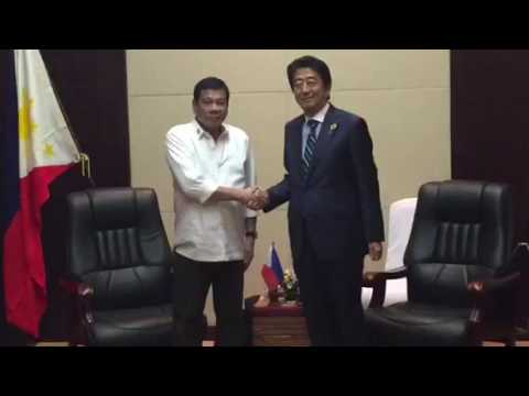 Duterte meets with Japan PM Shinzo Abe