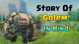 "STORY  OF ""GOLEM""IN HINDI .CLASH OF CLANS"