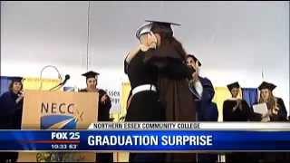 Marine surprises wife at graduation