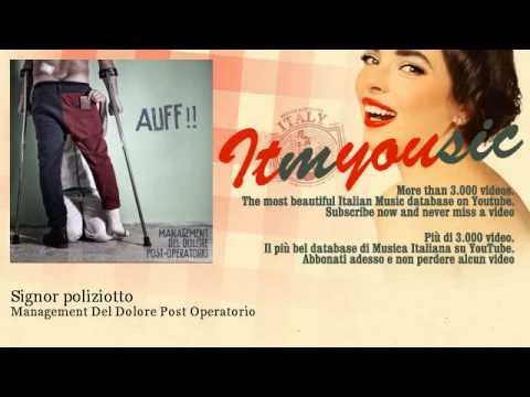 Management Del Dolore Post Operatorio - Signor Poliziotto