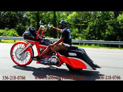 Custom Cycles LTD Cleveland 30 inch wheel road glide custom bagger Harley Davidson