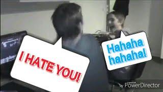 League of legends funny moment:Rage boy use keyboard slap laugh kid