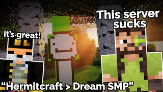 Iskall from Hermitcraft makes fun of Dream SMP on Fundy's Live