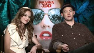 Piranha 3DD - Interview with David Koechner and Danielle Panabaker
