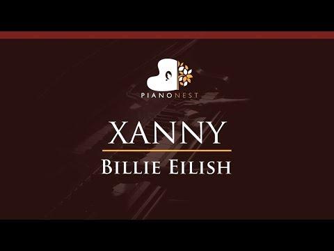 Billie Eilish - Xanny - HIGHER Key (Piano Karaoke / Sing Along)