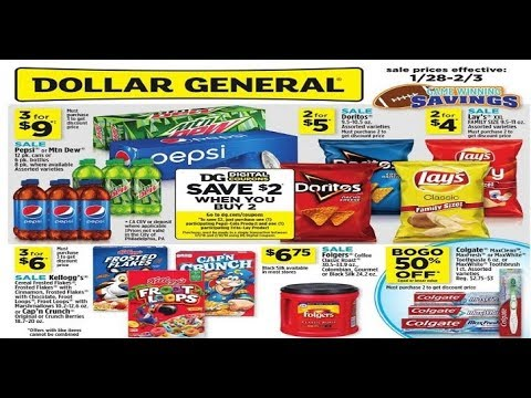 Dollar General Weekly Ad This Week Valid To February 3 2018