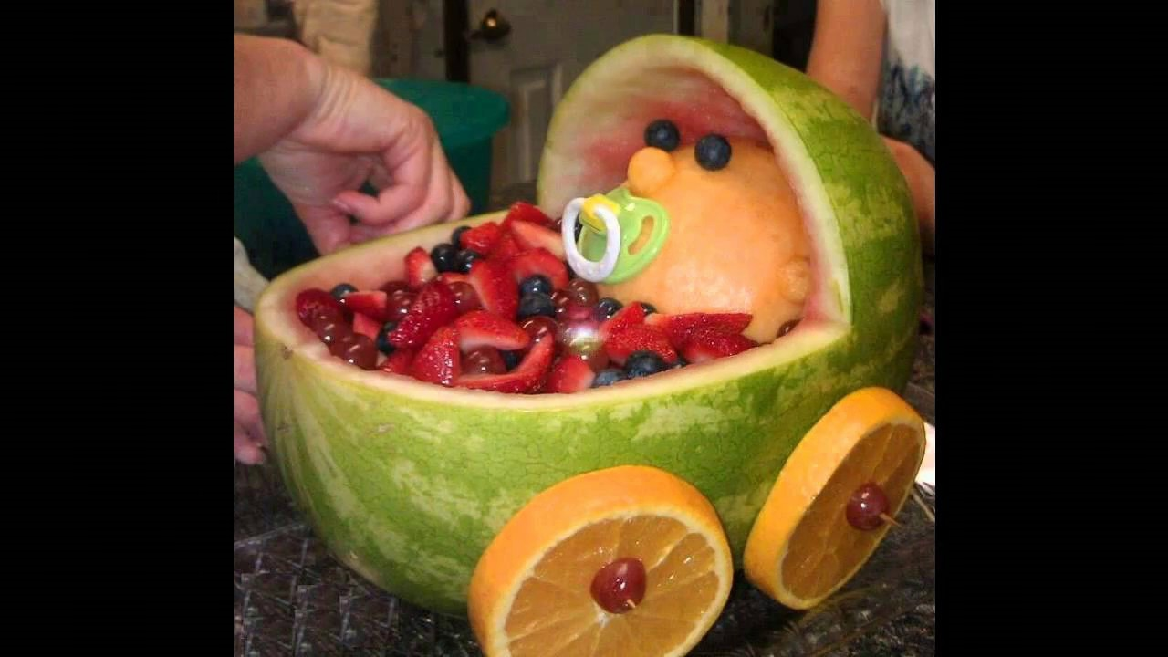 Baby Shower Fruit Salad Part - 32: Baby Shower Fruit Decoration