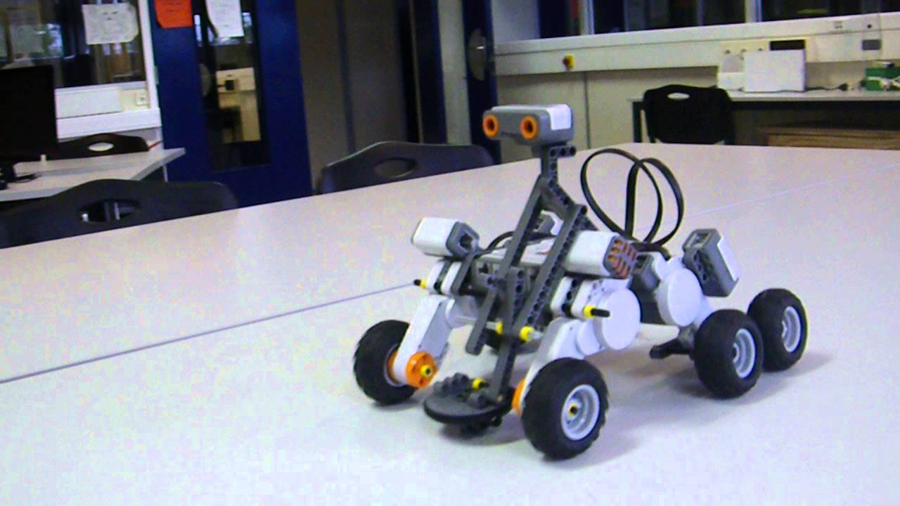 MSL Curiosity Rover legos Mindstorms - YouTube