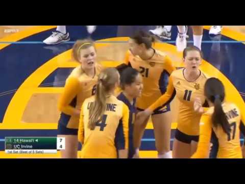 #14 Hawai i vs UC Irvine volleyball 2016