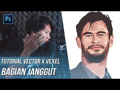 TUTORIAL VECTOR ART JANGGUT | PHOTOSHOP CC 2017