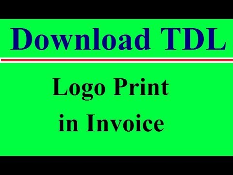 Secret Feature of Tally ERP 9 Logo Print in Invoice TDL