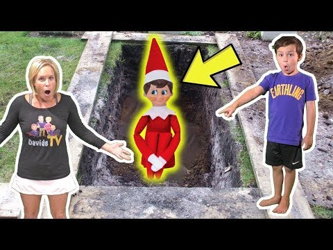 We Bury the Evil Elf on the Shelf! Will the Mean Elf Come back?