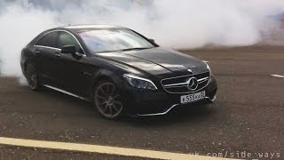 Mercedes CLS63 AMG S 4MATIC 2015 Hard Test Dagestan