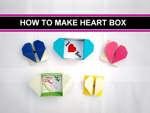 Love box or Heart box from paper easy steps