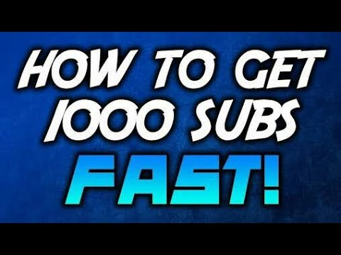 How To Get 1000 Free YouTube Subscribers