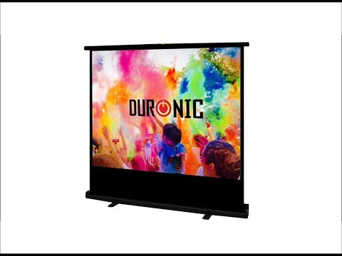 Awesome Freestanding 100 inch Projection Screen by Duronic