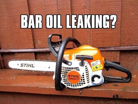 Fixing A Chainsaw That Leaks Bar Oil