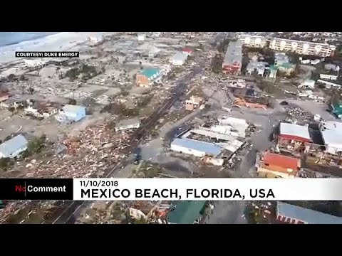 Search and rescue teams pick through the aftermath of Hurricane Michael