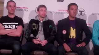 Nick Willis, Galen Rupp, Leo Manzano and Lopez Lomong talk at 2014 NBIGP Press Conference