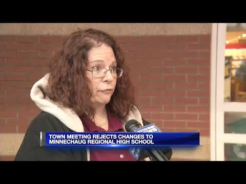 Town meeting rejects changes to  Minnechaug Regional High School