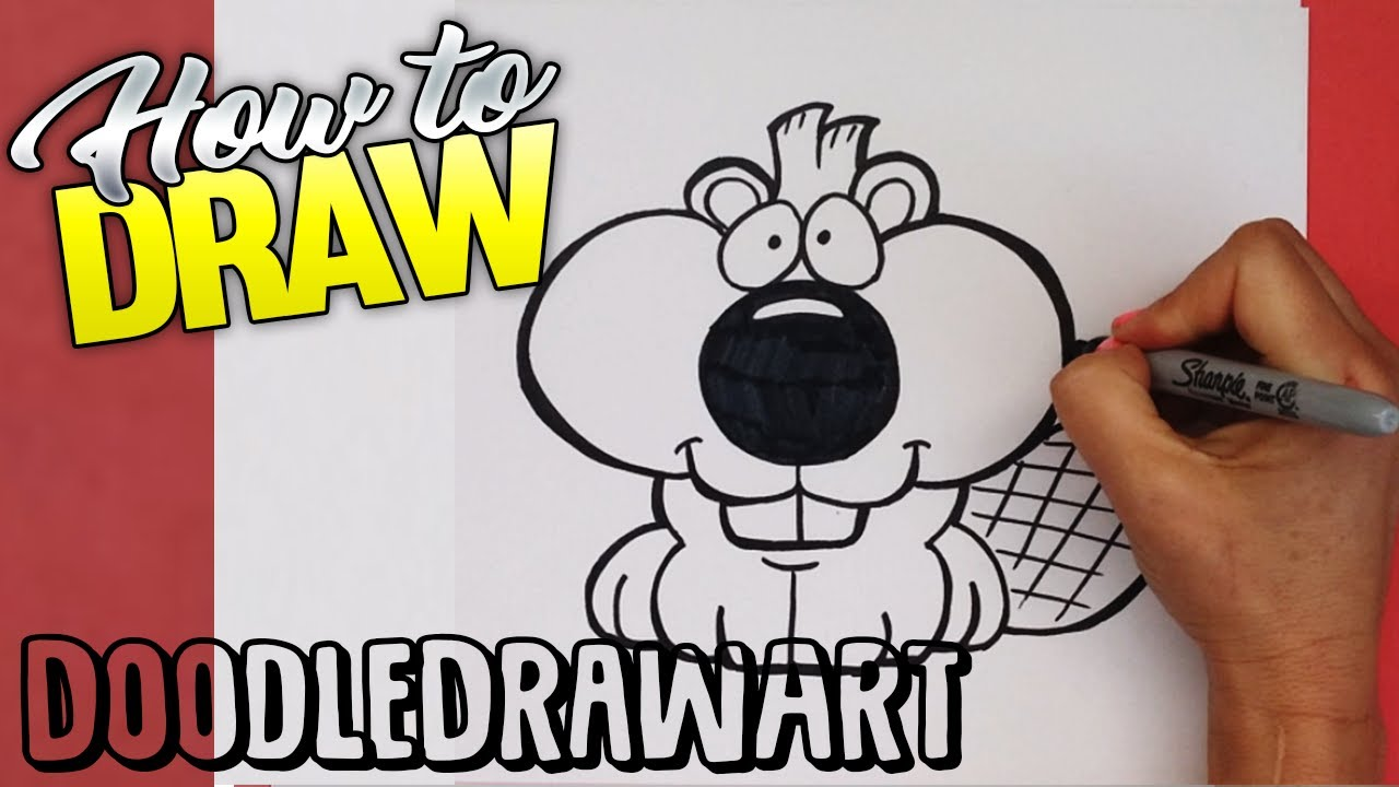 Cute Easy Drawings How To Draw A Cute Beaver Step By Step Easy