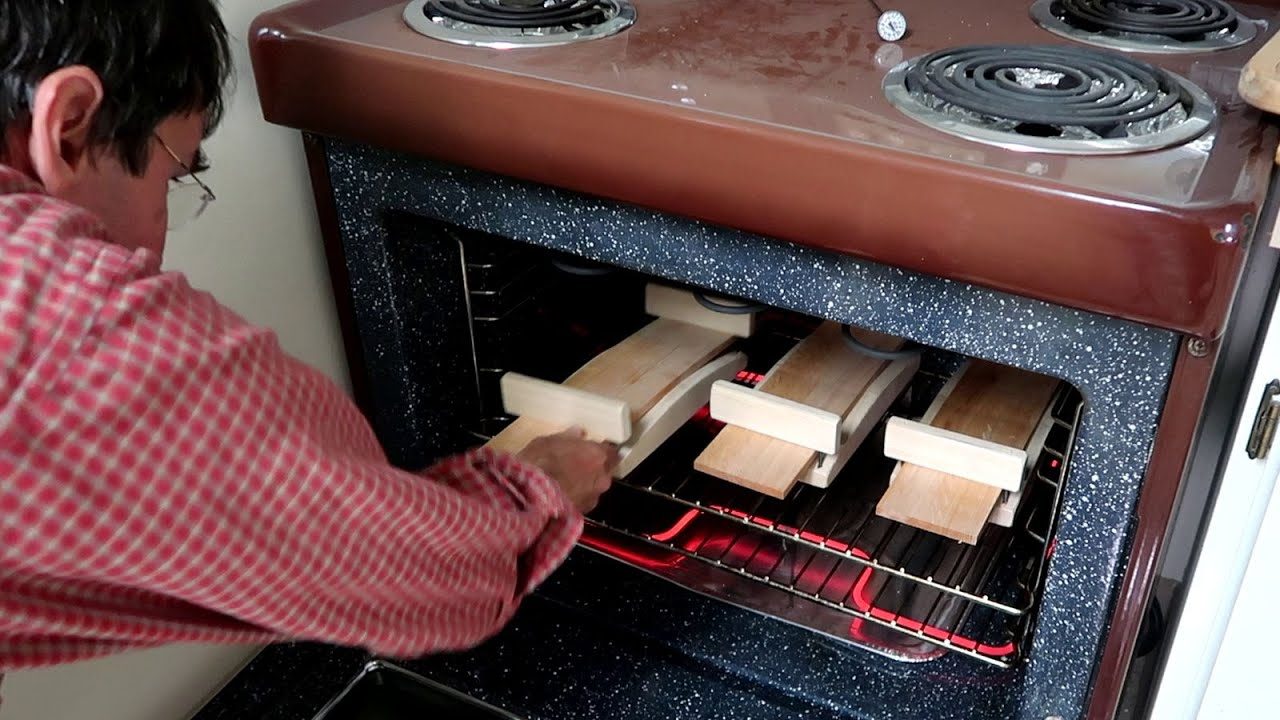 Bending chair back rungs in a kitchen stove