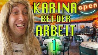Karina bei der Arbeit - Kellnerin (Teil1)