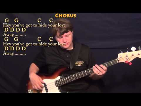 You've Got To Hide Your Love Away (Beatles) Bass Guitar Cover Lesson With Chords/Lyrics