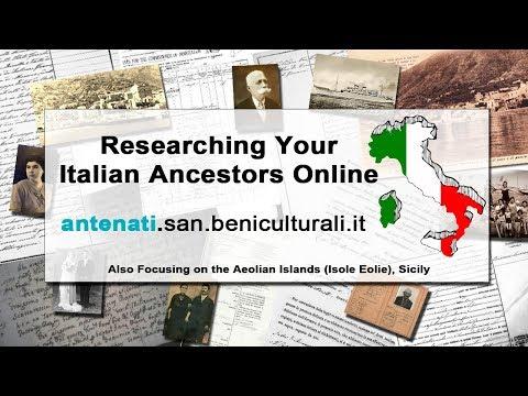 Finding Your Italian Ancestors Online at antenati.san.beniculturali.it