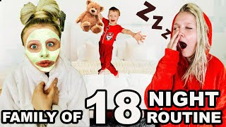 MOM of 16 KiDS NIGHT TIME ROUTINE  || 2020 GIVEAWAY! Large family Bedtime Routine!!