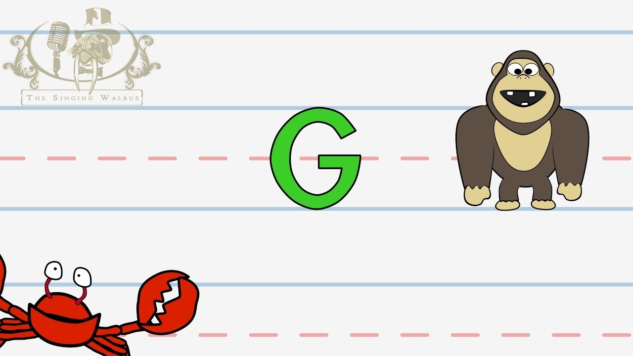 Write the letter G | Alphabet Writing lesson for children | The