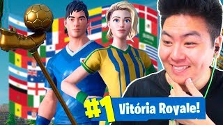 COMPREI AS SKINS DA COPA DO MUNDO E VENCI!! - Fortnite Battle Royale