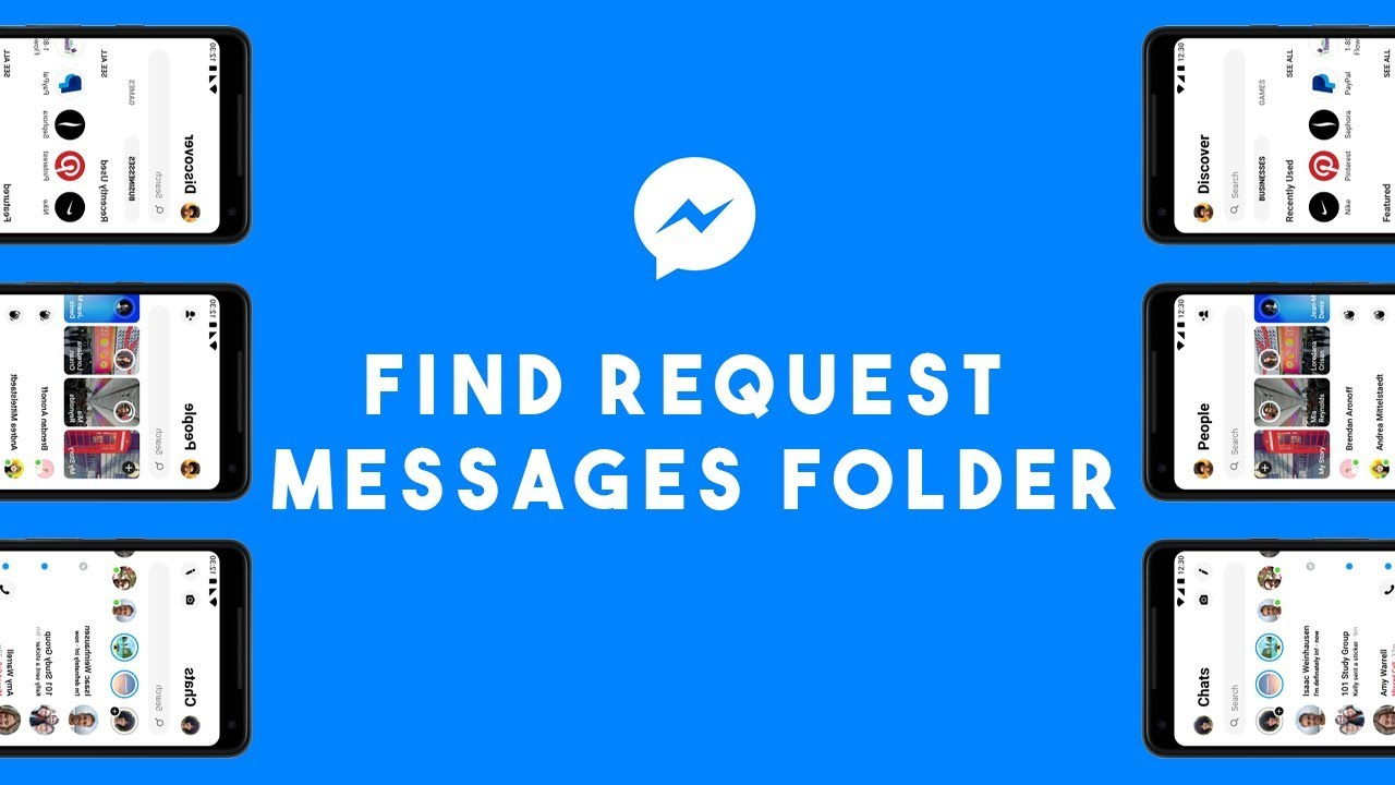 Where to find message requests folder on Facebook messenger 2019