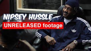 Nipsey Hussle UNRELEASED Footage | In Studio + Phone Call with Ryan Leslie