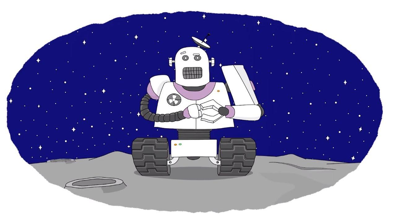 Мультик - Раскраска. Учим Цвета - Роботы - мультфильмы для ...