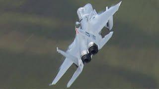 Low level F-15C 'Grim Reapers' - Mach Loop - August 2017