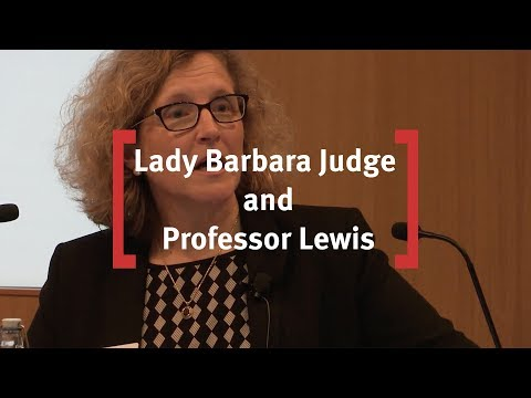 In Conversation with Lady Judge and Professor Lewis