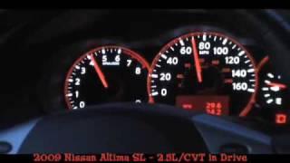 2009 Nissan Altima 0-60 MPH - CVT in Drive