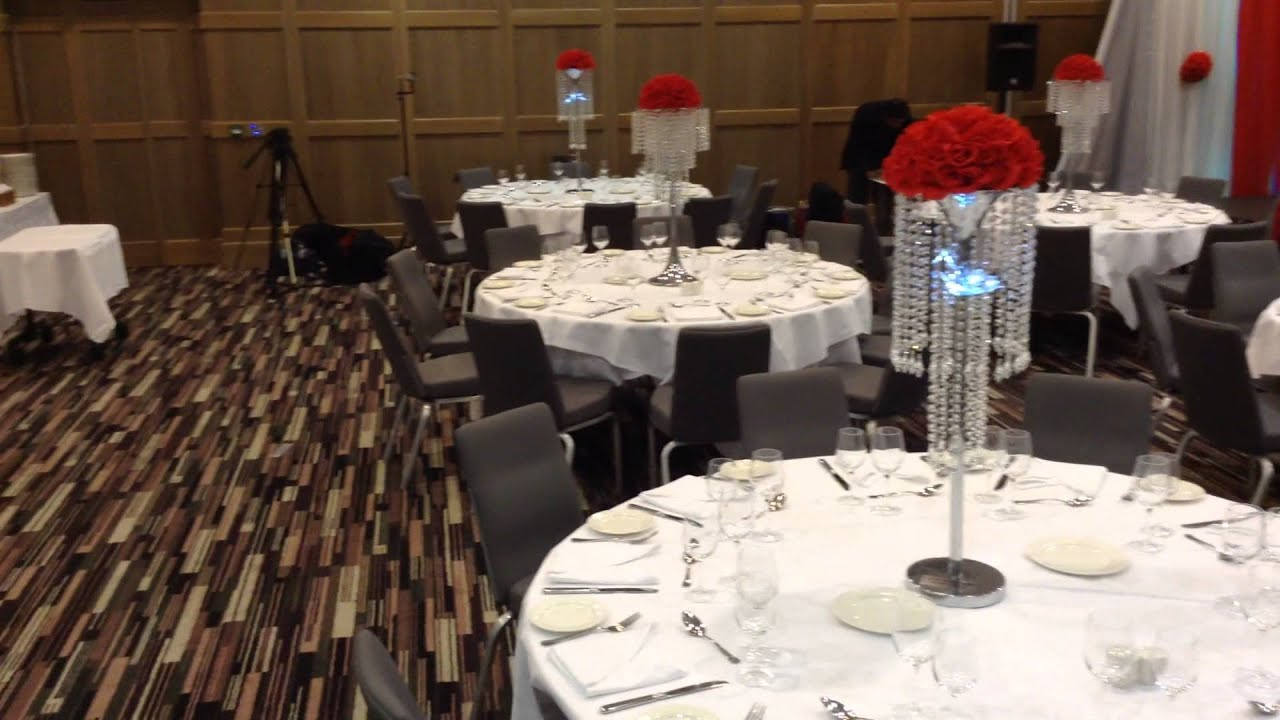Backdrop & Crystal Table Chandelier Centerpieces Decor