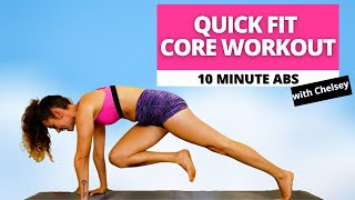 10-Minute Total Core Workout | Fitness Training, No Equipment