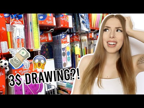 DOLLAR STORE ART CHALLANGE! Making a Drawing for 3$!