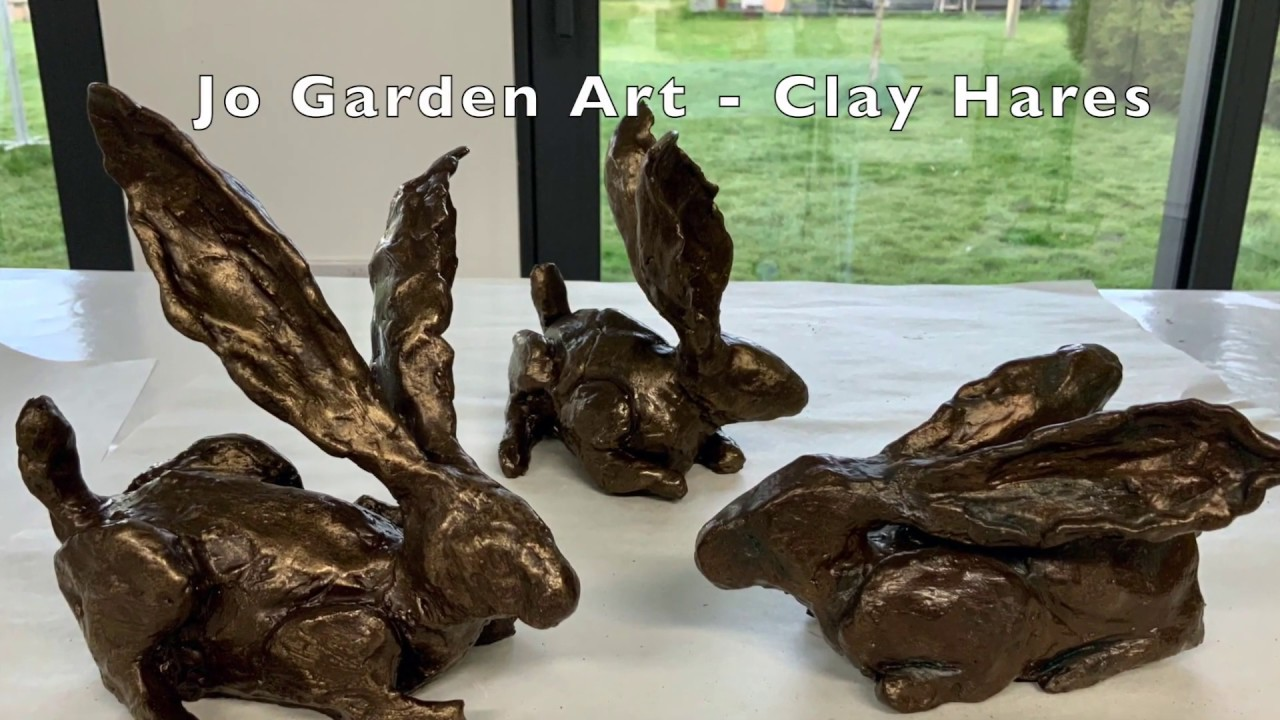 Hare sculpture out of Newclay air drying clay
