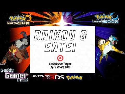 Entei and Raikou Join the 2018 Legendary Pokémon Celebration at Target