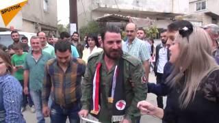 بالفيديو...هكذا يستقبل السوريون جرحى الجيش السوري