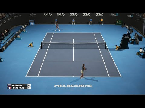 AO Tennis - Daria Kasatkina vs Kristina Mladenovic - PS4 Gameplay