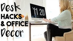INTERIOR DESIGN: Desk Hacks & Office Decor Ideas | Making the Most of Our Small Office!
